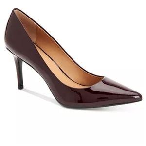 Calvin Klein Gayle Patent Pumps Burgundy US 8.5